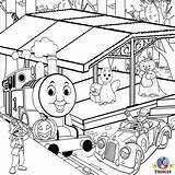 Coloring Thomas Pages Train Truck Halloween Printable Tank Engine Toy Tunnel Garbage Drawing Friends Colour Tonka Farm Colouring Station Sheets sketch template