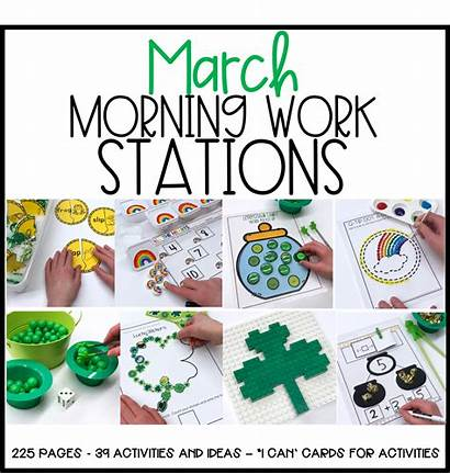 Morning March Stations Lucky Kindergarten Working