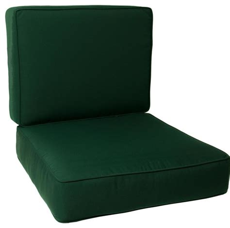 large replacement club chair cushion set with piping