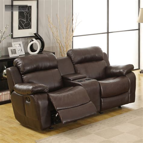 Lazy Boy Reclining Loveseats by Brown Leather Glider Recliner Loveseat Sofa Lazy
