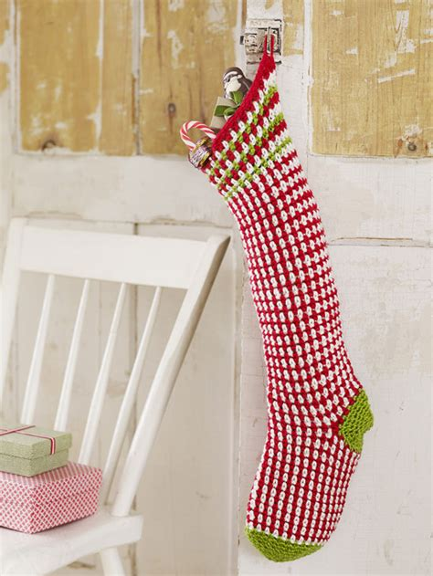 crochet christmas stocking patterns patterns hub