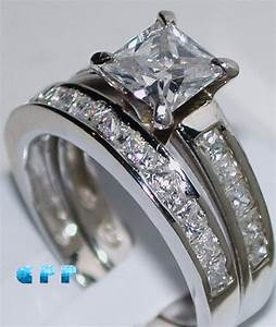 aliexpresscom buy 2 carat princess cut best quality With faux diamond wedding ring sets