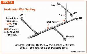 Wet Venting Bathroom Group Via Sink Vent