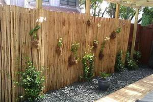 Glorious Bamboo Fence Decorating Ideas For Landscape