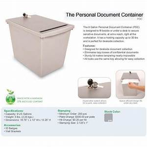 personal document destruction container indoor recycling With document destruction containers