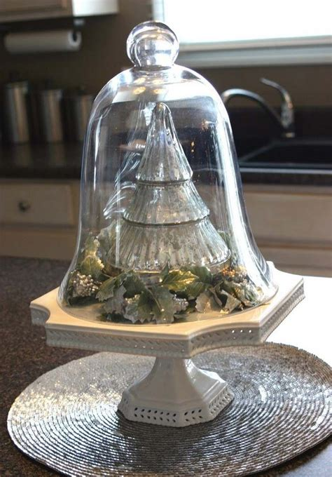 cloche decorate  christmas  nice ideas diy masters
