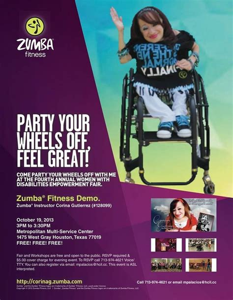 zumba fitness empowerment events fair theme event join disabilities fourth annual class wheelchair come