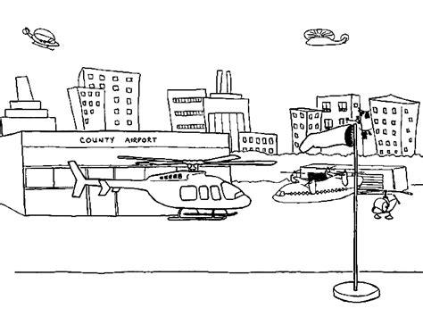 Vliegveld Kleurplaat by Vliegtuig Kleurplaten Vliegveld Helicopter