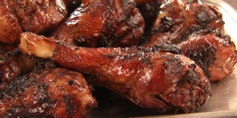 bbq turkey drumsticks  chipotle glaze recipes food