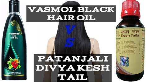 Comparison Of Vasmol Black Hair Oil Vs Patanjali Divya