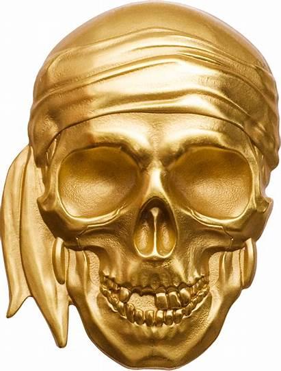 Skull Pirate Gold Coin Palau Skulls Blackbeard