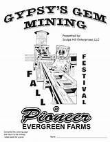 Coloring Mining Gem Sheet Pages Festival Fall Pioneer Evergreen Farms Pdf sketch template