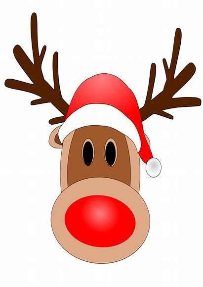 Nose Clipart Clip Rudolph Face Reindeer Outline