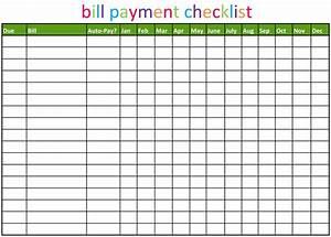 6 Best Free Printable Bill Payment Chart Printablee Com