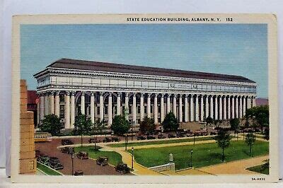 New York NY Albany State Education Building Postcard Old
