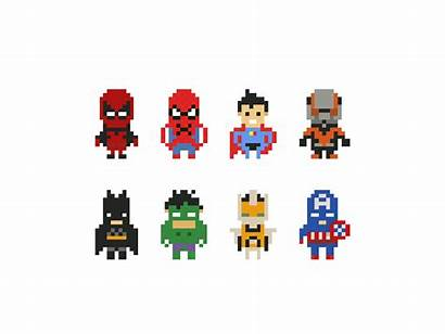 Super Heros Pixel Hero Superhero Dribbble