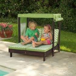 double kids chaise lounger outdoor patio furniture pool