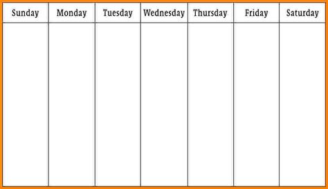 Monday Through Saturday Calendar Template by Monday Friday Calendar Pictures To Pin On