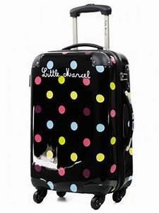 Valise Enfant Fille : valise cabine little marcel menthe 51 cm valise cabine rigide 4 roues little marcel menthe ~ Teatrodelosmanantiales.com Idées de Décoration