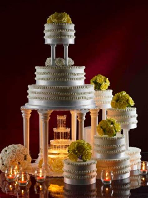 ideas  fountain wedding cakes  pinterest