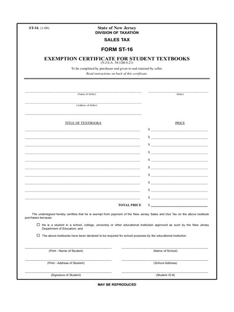 student tax exemption form 2 free templates in pdf word