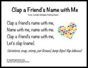 Preschool Friendship Songs
