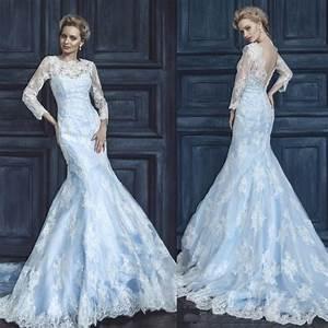 2015 Frozen Elsa Inspired Wedding Dresses Ice Blue Mermaid ...