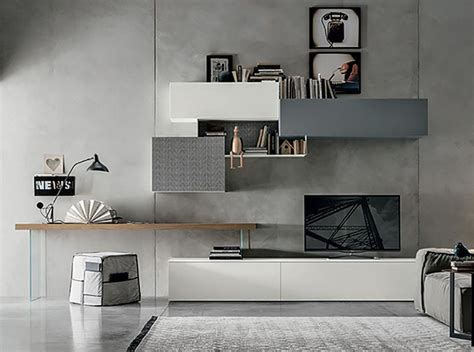 Modern Wall Unit TM 450A Made in Italy Modern wall