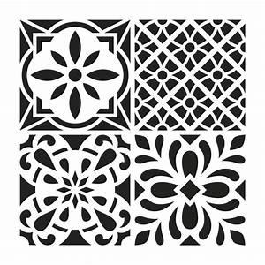 30 X 30 : pochoir d coratif home deco 30x30 cm carreaux de ciment mod le 1 perles co ~ Markanthonyermac.com Haus und Dekorationen