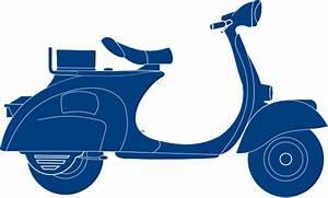 Dark Blue Scooter Clip Art at Clker.com - vector clip art ...