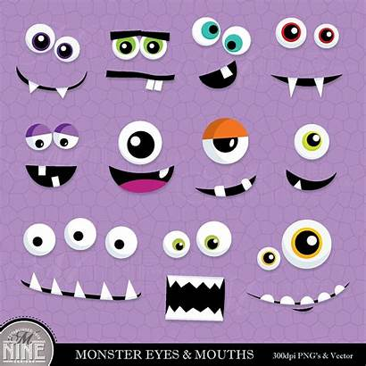 Monster Eyes Monsters Clip Clipart Inc Faces