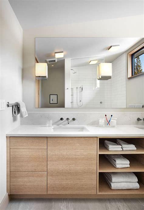 Modern Bathroom Shelving Ideas by Best 25 Wooden Bathroom Vanity Ideas On Wall