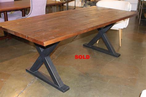 metal base reclaimed wood custom dining table jpg 1920