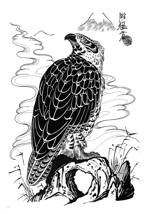 Hawk Tattoo Images & Designs