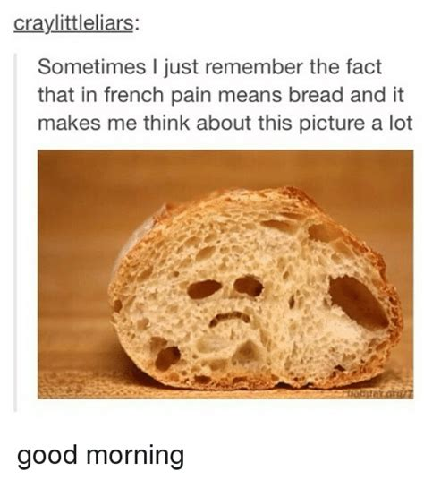 What Does Meme Mean In French - craylittleliars sometimes l just remember the fact that in french pain means bread and it makes