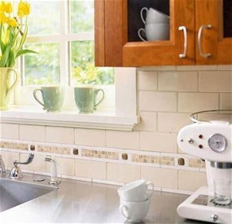 Backsplash Ideas For Kitchen - subway tile kitchen backsplash with accent tile subway tile backsplash with mosaic tile accent