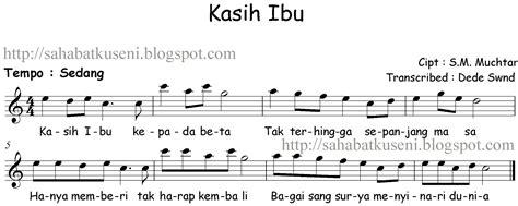 not angka sang surya not balok lagu anak anak indonesia kasih ibu s m muchtar sahabatku seni