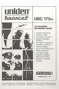 Uniden Portable Radio Ubc 175xl User Guide