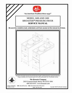 Broaster 1600  1800 Operations Manual
