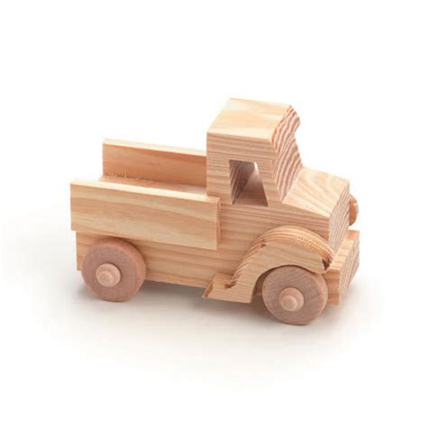 natural unfinished wood truck     darice