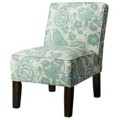 Target Hayden Armless Chair by Hayden Armless Chair Blue Floral For Dining Room Chairs