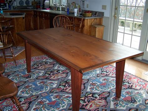 Hand Made Reclaimed Heart Pine Dining Table By Saltwater
