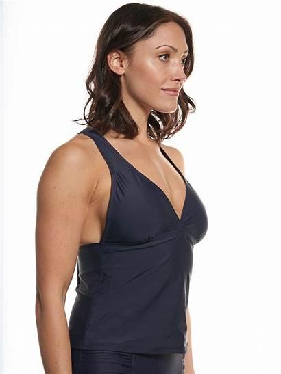Navy Waverly Tankini Side Popinaswimwear Popina