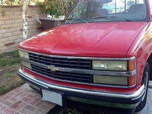 92 Red Chevy Silverado 1500 Pickup With Extended Cab