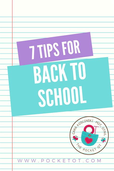 7 back to school and 7 tips for back to school pocketot