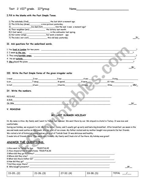 test esl worksheet  aticemalik