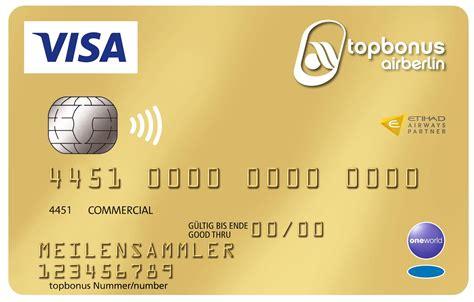air berlin kreditkarte visa card mit gratis bonusmeilen