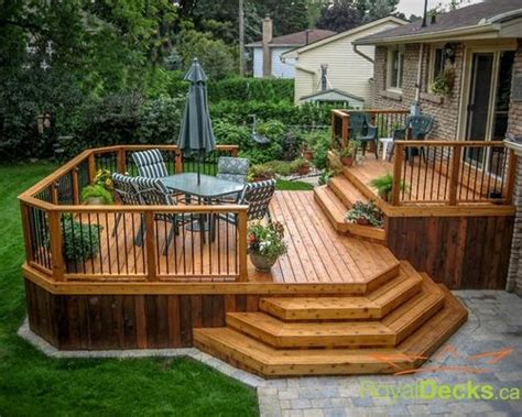awesome deck ideas awesome two level deck designs ideas backyard ideas pinterest deck design decking and