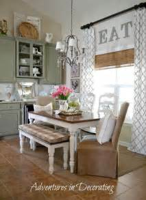 eat in kitchen furniture 15 ways to add to any of window high curtains walnut stain and kitchens