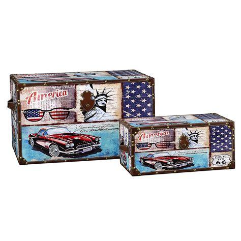 household essentials decorative storage trunk classic